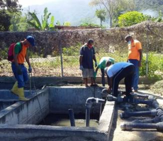 Alcaldía inició rehabilitación de planta de tratamiento de aguas servidas en Choroní
