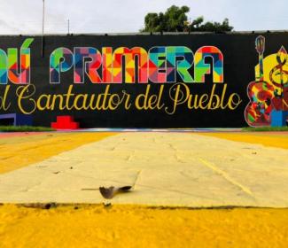 Alcalde Rafael Morales embellece Plaza Alí Primera