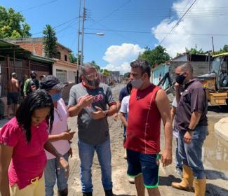 Alcalde Bastidas realizó balance sobre sectores afectados por recientes lluvias