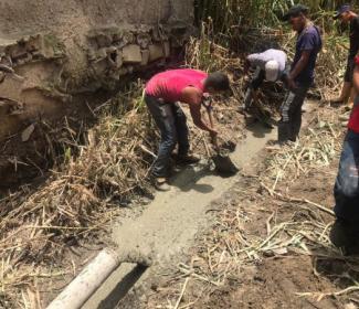 Gobierno Local y Regional Reparan Muro de Concreto Armado en el Sector La Haciendita