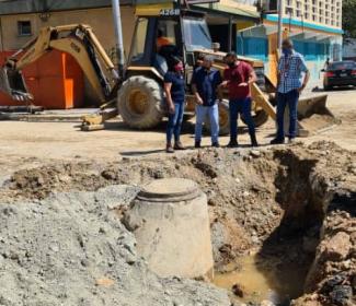 Alcalde Pedro Bastidas supervisó obras de colectores en la ciudad